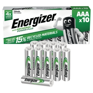Pile rechargeable Energizer Power Plus AAA/HR3 - 700 mAh - pack de 10