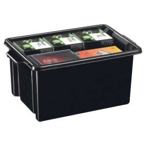 Strata storage box in PP 32 litre 24x52x35cm - pack of 5