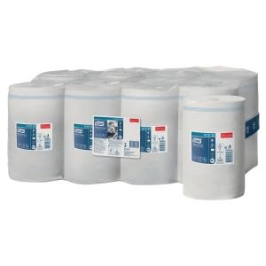 Tork Wiper Mini poetsdoek, 1-laags, wit, niet voorgesneden, per 11 rollen