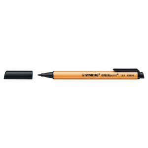 Stabilo Greenpoint Nylon Sign Pen Black - Box Of 10