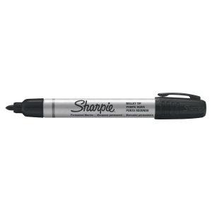 MARCATORE INDELEBILE SHARPIE METAL BARREL PUNTA TONDA, COLORE NERO