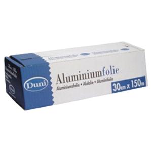 Duni aluminiumfolie met dispenser 30cmx150m
