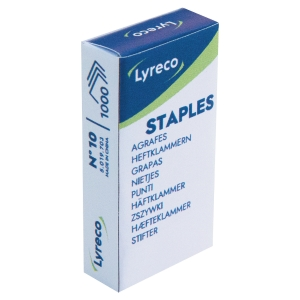 Lyreco No.10 (10-1M) Staples - Box of 1000