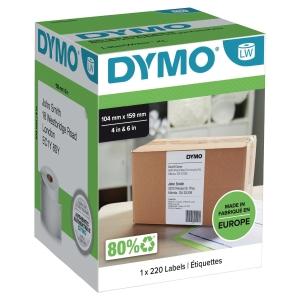 Dymo étiquettes pour LabelWriter 4XL 104x159mm - boite de 220