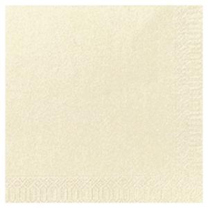 Serviette Duni en ouate - 2 plis - 24 x 24 cm - crème - paquet de 300