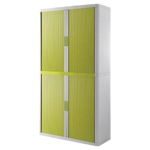 Paperflow cupboard 110x204x41,5cm green/white