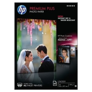 Boite 50 feuilles papier photo HP premium+ A4 300g brillant cr674a
