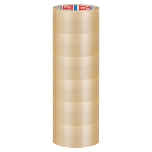 TESA PACKAGING TAPE PVC 50MM X 66M BROWN - 52 MICRONS - PACK OF 6