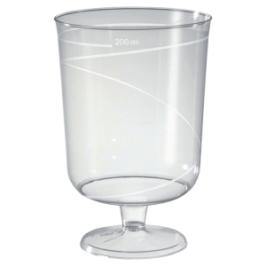 Paquet de 10 verres a pied premium 20cl en ps transparent