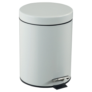 POUBELLE A PEDALE ROSSIGNOL BY CEP METAL BLANC 5LITRES