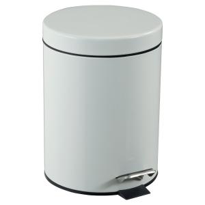 Tretabfalleimer CEP 90349, Durchmesser: 210mm, Höhe: 280mm, Inhalt: 5 l, weiß