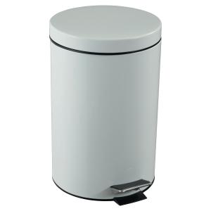 Rossignol poubelle à pédale 14l métal blanc