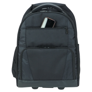 "Targus Rolling Laptop Computer Backpack on wheels fits 15.6"" Laptops"
