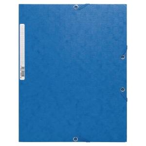 Eckspanner Exacompta 55852E, A4, aus Karton, Fassungsvermögen: 250 Blatt, blau