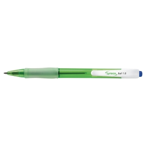 Lyreco Recycled retractable ballpoint pen medium blue