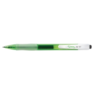 LYRECO RECYCLED RETRACT GEL BLACK PEN 0.7MM