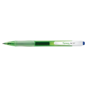 LYRECO RECYCLED RETRACT GEL BLUE PEN 0.7MM