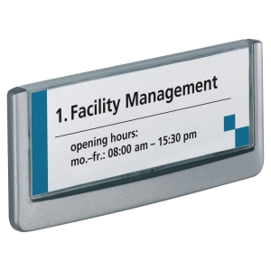 DURABLE CLICK SIGN DOOR SIGN 149 X 52.5MM GRAPHITE