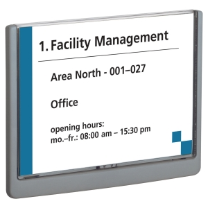 DURABLE CLICK SIGN DOOR SIGN A5 SIZE GRAPHITE