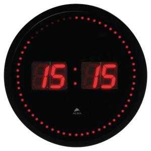HORLOGE LED ALBA HAUTE VISIBILITE COMPTEUR DES SECONDES ABS 30CM