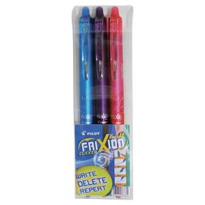 Rollerballpenna Pilot FriXion Clicker, 0,7 mm, utvalda färger, 3 st