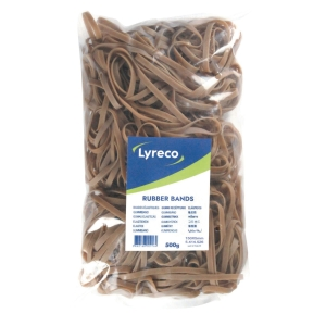 LYRECO WIDE RUBBER BANDS 150 X 5MM - PACK OF 500G