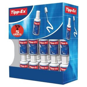 TIPP-EX RAPID CORRECTION FLUID BOTTLE 20ML - BOX OF 15 + 5 FREE
