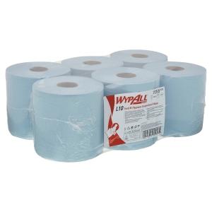 Pack de 6 bobina secamanos Wypall L10 - 266 m - 1 capa - azul