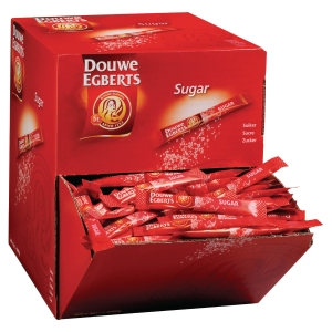 Douwe Egberts sugar in sticks 4g accessories for coffee and tea - box of 500