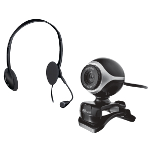 Chatpakke Trust Exis webcam+mic sort