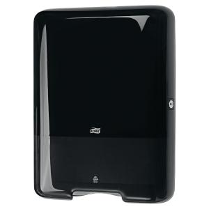 Dispenser Tork H3, för pappershanddukar av Zig-Zag och Centerfold-typ, svart