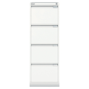 Bisley filing cabinet with 4 drawers white