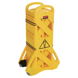 Barriera delimitatore mobile Rubbermaid gialla