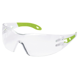 Schutzbrille Uvex 9192.725 Pheos S, Filtertyp 2C, weiss/grün, Scheibe klar