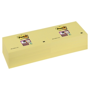 Post-it® Super Sticky Notes 655-SSY, kanariegeel,  76 x 127 mm, per 12