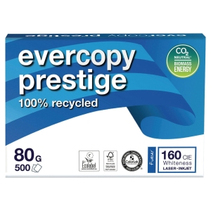 Evercopy Prestige recycled paper A4 80g - 1 box = 5 reams of 500 sheets
