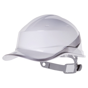 CASQUE DE CHANTIER DELTA PLUS DIAMOND V TYPE CASQUETTE BASEBALL BLANC