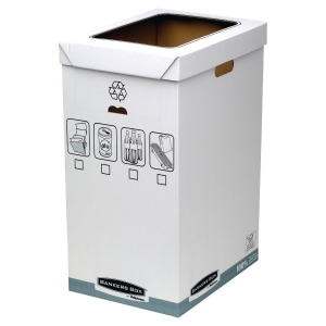 Corbeille de tri Fellowes Bankers Box - 90 L - lot de 5