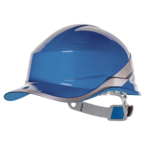 CASQUE DE CHANTIER DELTA PLUS DIAMOND V TYPE CASQUETTE  BASEBALL BLEU