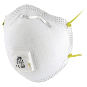 3M 8312 FFP1 Respirator Masks With Valve  (Box of 10)