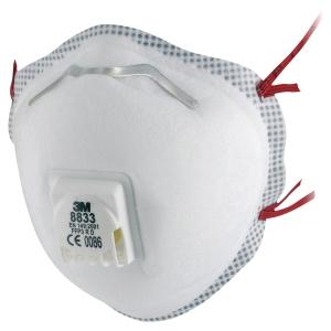 Respiratore 3M 8833 FFP3 con valvola e stringinaso - conf. 10