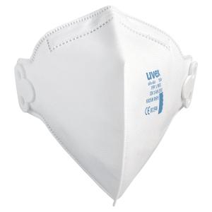 Boite de 30 masques antipoussières pliables Uvex Silv-Air 3100 FFP1 blanc