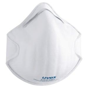Caixa de 20 máscaras UVEX Silv-Air 2100 FPP1 moldadas sem válvula