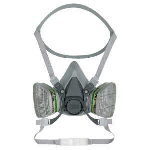 3M 6200-M reusable half face mask respirator