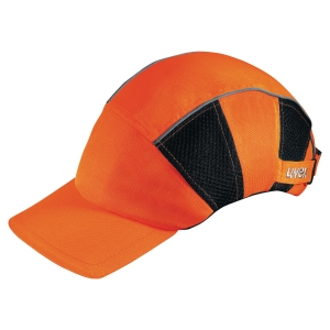 UVEX U-CAP H-VIZ PROTECTION CAP ORANGE AND BLACK