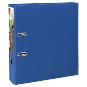 Exacompta Prem Touch Blue A4 Lever Arch File 80mm