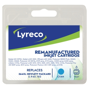 LYRECO HP 364XL CB323 HIGH YIELD COMPATIBLE INKJET CARTRIDGE CYAN