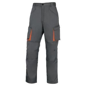 Pantalon de travail Deltaplus Mach 2 polyester coton gris/orange taille L