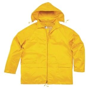 Regnställ Deltaplus jacka och byxor gul stl. xl
