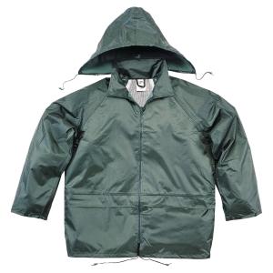 Ensemble de pluie Deltaplus EN400 tissu polyester enduit PVC vert taille M